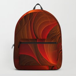Warmth, Abstract Fractal Art Backpack