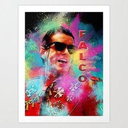 Colorful Dust Falco Art Print