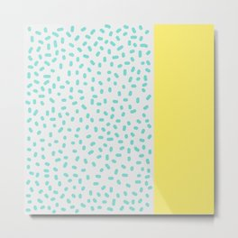 Candy Spots and Stripe Metal Print