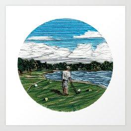 Golf Life Art Print
