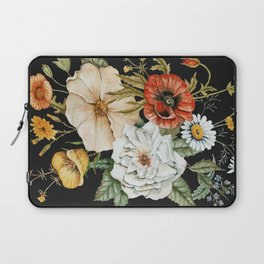Wildflower Bouquet on Charcoal Laptop Sleeve