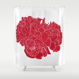 Floral Reds Shower Curtain