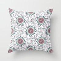 wallpaper Throw Pillows featuring Wallpaper  by Truly Juel