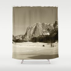 Altausee Landscape Sepia Shower Curtain