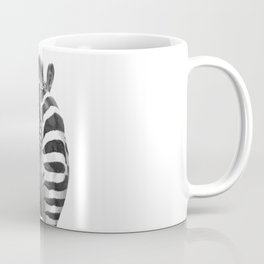 Black and White Zebra Tail Coffee Mug