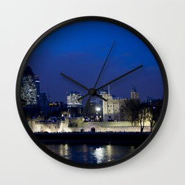 Tower of London at night Wall Clock