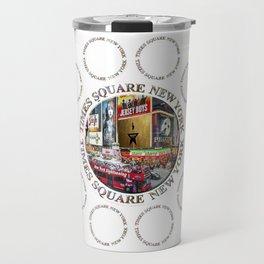 Times Square New York City (multi badge emblem) Travel Mug