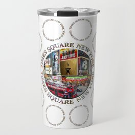 Times Square New York City (multi badge emblem) Travel Mug