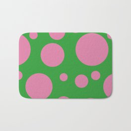 Bubbles Green/Pink Bath Mat
