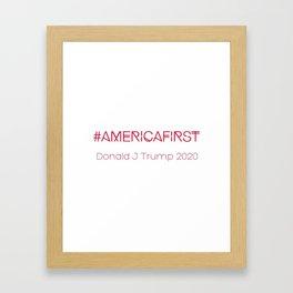 #AMERICAFIRST Framed Art Print