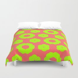 corail and anis Duvet Cover