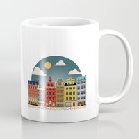 stockholm Mugs featuring Stockholm by HOONISME