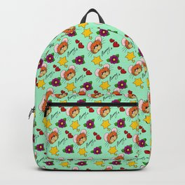 Hammy Pattern in Mint Green Backpack