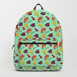 Hammy Pattern in Mint Green Backpack