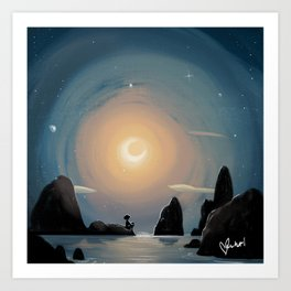 Crescent Moon Kunstdrucke