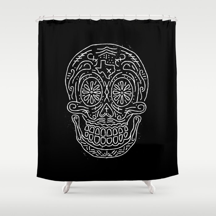 Texas Sugar Skull Shower Curtain By Sanctuaryprintshop