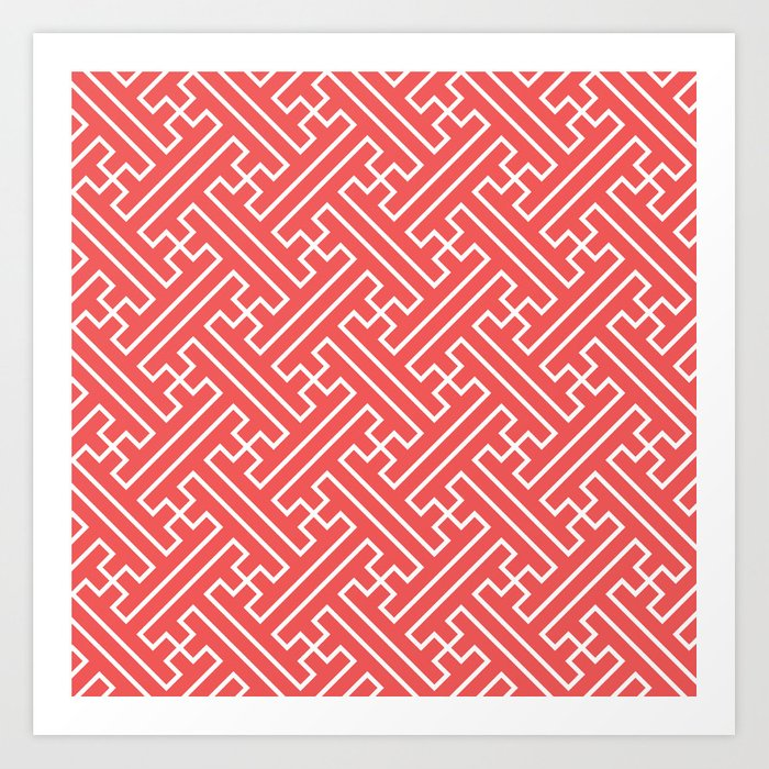 Lattice - Coral Art Print