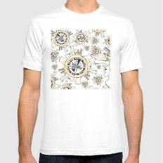 Cameo White MEDIUM Mens Fitted Tee