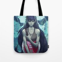 artgerm Tote Bags featuring Marcie by Artgerm™