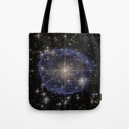 Blue Bubble Nebula Tote Bag