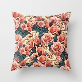 Fragrant English Roses  Throw Pillow
