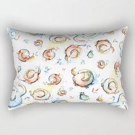 Elephants Pattern Watercolor Whimsical Animals Rectangular Pillow