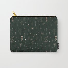 Wild botanical pattern Dark Green Edition Carry-All Pouch
