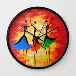 3 Girls Wall Clock