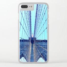 BROOKLYN BRIDGE - LIGHTER Clear iPhone Case