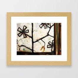Barn Flower Framed Art Print