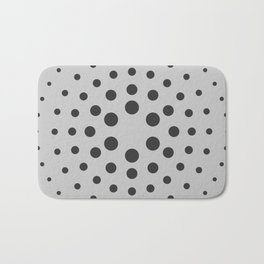 Mid-Century Modern Art - Spiral Dots Black & Grey Bath Mat