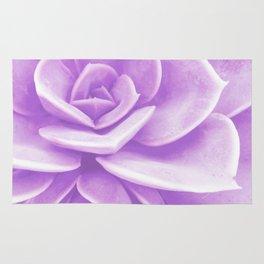 Purple Succulent Reflection Rug