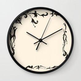Victorian Boarder  Wall Clock
