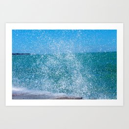 Lake Michigan Natural Fountains #2 (Chicago Waves Collection) Art Print