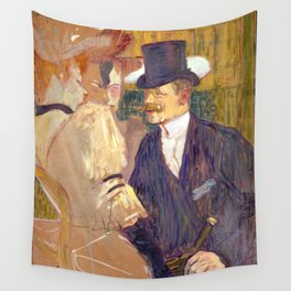 "Henri de Toulouse-Lautrec ""The Englishman (William Tom Warrener, 1861–1934)"" Wall Tapestry"