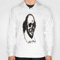 shakespeare Hoodies featuring SHAKESPEARE SKULL PORTRAIT by Joedunnz