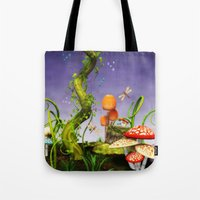 fairytale Tote Bags featuring fairytale by Ancello