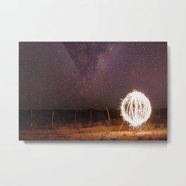 Lightpainting under the stars Metal Print