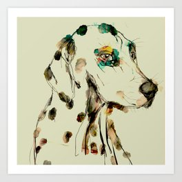 The dalmatiner Kitty Art Print
