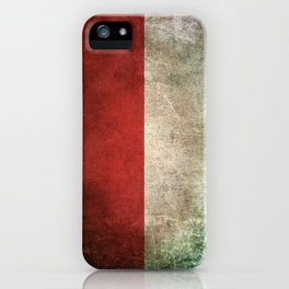 Old and Worn Distressed Vintage Flag of Indonesia iPhone Case