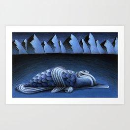 Long Dark Blues Art Print