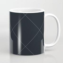 Diagonal Grid Lines Coffee Mug