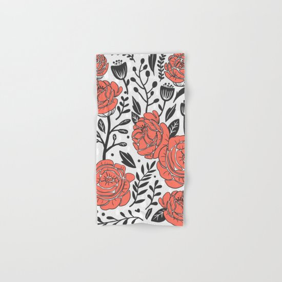 Orange Garden Hand & Bath Towel