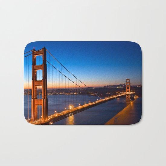 Golden Gate Dawn Bridge Bath Mat