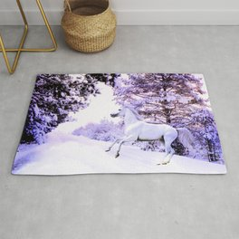 snow beauty Rug