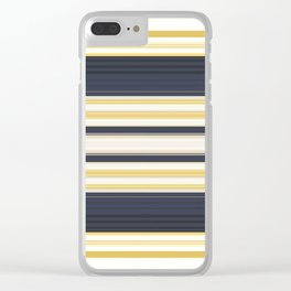 Nautical Stripes Pattern Clear iPhone Case