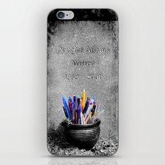 The Grave of Douglas Adams iPhone & iPod Skin