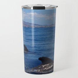Pilot whales off Tenerife Travel Mug