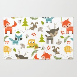 woodland animals Rug