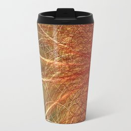 Linear Abstract2-Warm Colors Travel Mug